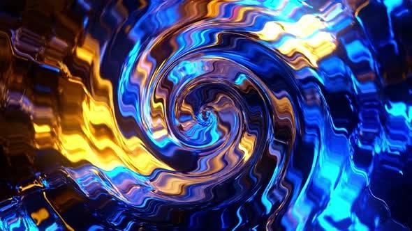 Rotation of Bright Glowing Circles