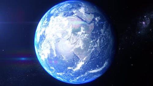 Realistic Earth Zoom Hudson Bay