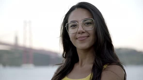 Thumbnail for Beautiful Happy Woman in Eyeglasses