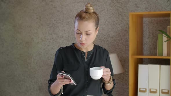 Thumbnail for Businesswoman Using Smartphone