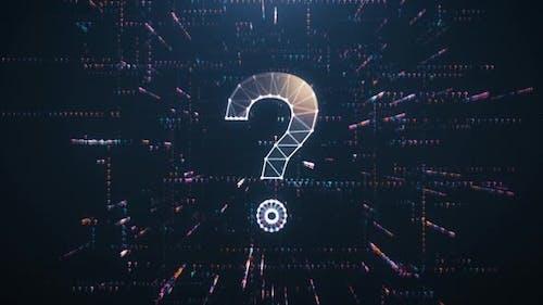 Digitale Animation des Fragezeichens