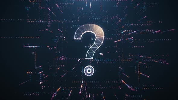Digital Animation of the Question Mark