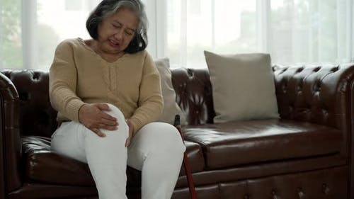 Senior Adult With Serious Legs and knee Pain