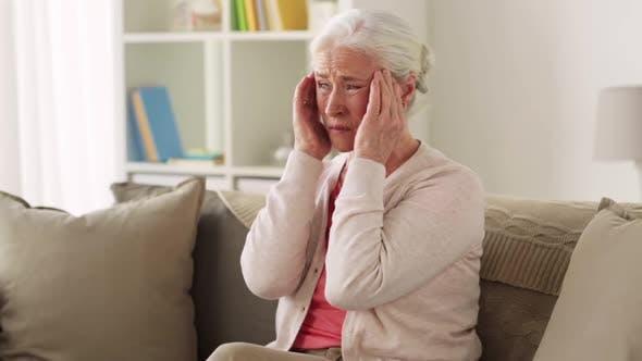 Thumbnail for Senior Woman Suffering From Headache