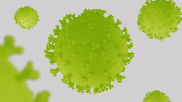 Coronavirus Green and White Background - Ver1