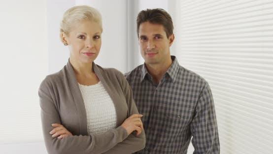 Thumbnail for Portrait of confident business colleagues