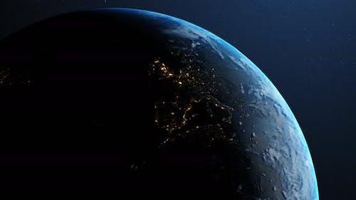 Earth in space 4k