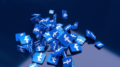 Facebook Falling Icons