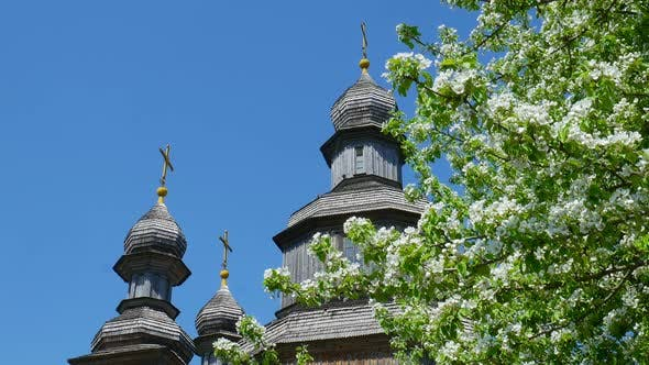 Thumbnail for Old Wooden Architecture From Above in Sunny Day