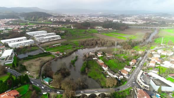 Flood River Aerial View