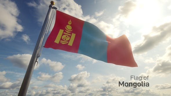 Thumbnail for Mongolia Flag on a Flagpole