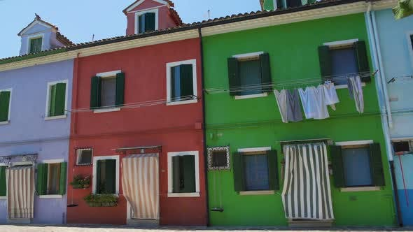 Thumbnail for Multicolored Street on Burano, Famous Vivid Architecture, Tourist Attraction