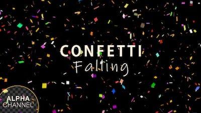Multi Colored Confetti Falling