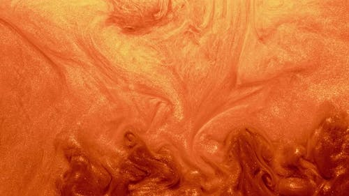 Orange Paint Whirl Fluid Motion