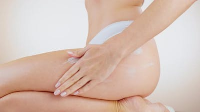 Concept of Depilation, Smooth Skin, Skin Care and Body