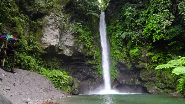 Beautiful Tropical Waterfall Camiguin, Philippines