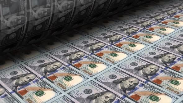 Impresión de billetes de dólar de dinero de frender en Envato Elements