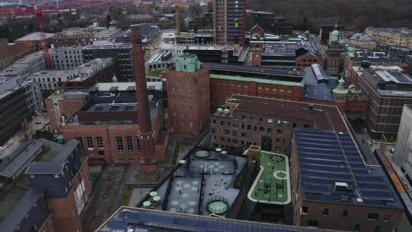 Drone Flight Over The Carlsberg Brewery