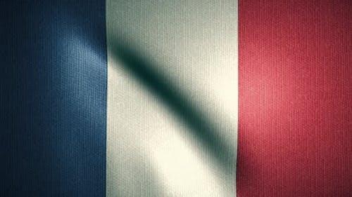 France Flag Waving