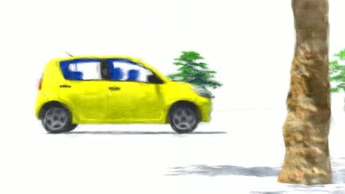 Small Yellow Car Stop Motion