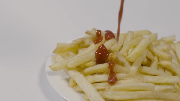 Thumbnail for Droping Sauce On Fries