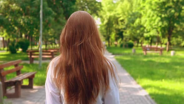 Thumbnail for Woman with Beautiful Long Hair Turn Face To the Camera