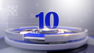 Modern Broadcast News Countdown Blue