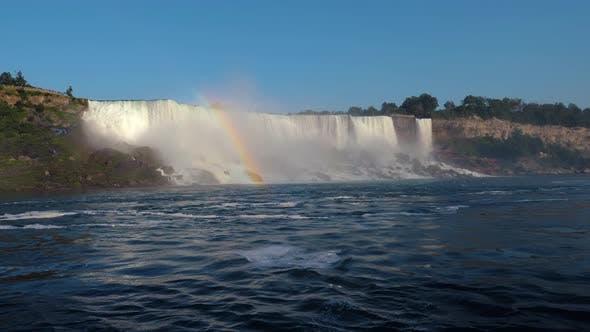 Thumbnail for Beautiful Niagara Falls and Rainbow Over It.