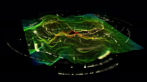 Futuristic Holographic Terrain Environment 02