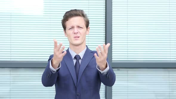 Thumbnail for Stock Business Loss Reaction by Young Businessman