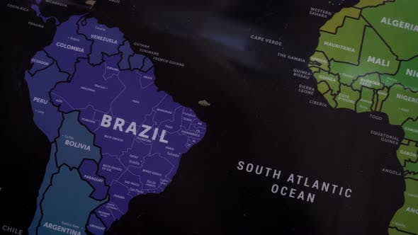 Thumbnail for South America On World Map