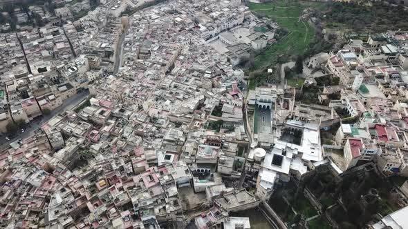 Thumbnail for Luftaufnahme der alten Medina in Fès, Marokko