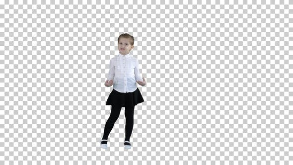Thumbnail for Cute little girl smiling and confidently, Alpha Channel