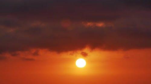 Big Sun with Clouds Sunrise Timelapse