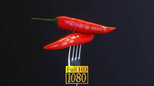 Pepper On A Fork HD