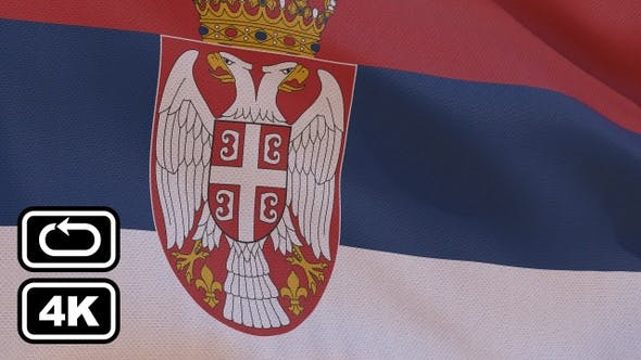 Thumbnail for Serbia Flag 4K Seamless Loop