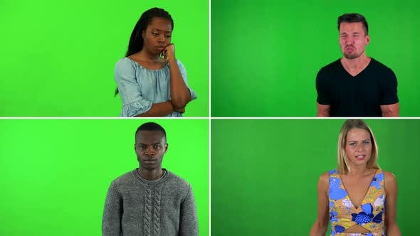 Thumbnail for Compilation (Montage) - Four People Act Angry - Green Screen