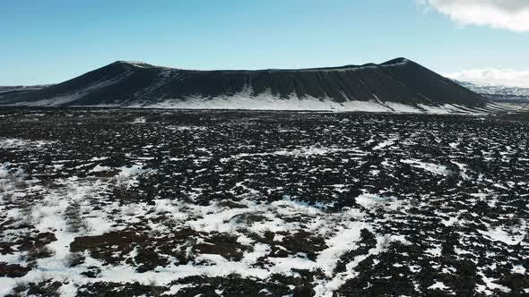 Thumbnail for Hverfjall or Hverfell - Extinct Volcano Located in the Iceland, Lake Myvatn