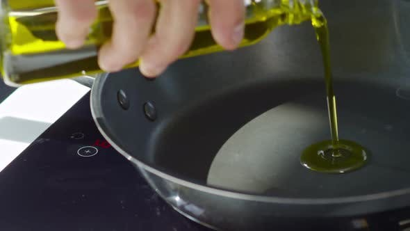 Thumbnail for Pouring Olive Oil into Pan