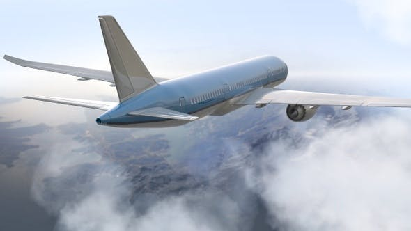 Passenger Above The Terrain And Clouds