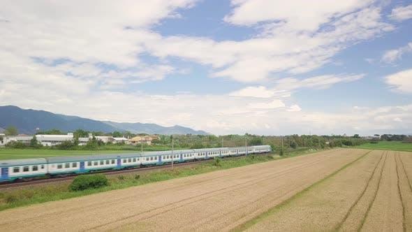 Train in the Wheat Field