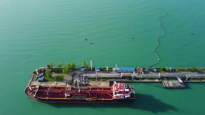 Oil Tanker In The Terminal Port