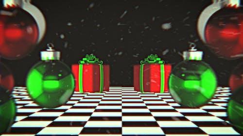 Christmas Vaporwave Background Loop
