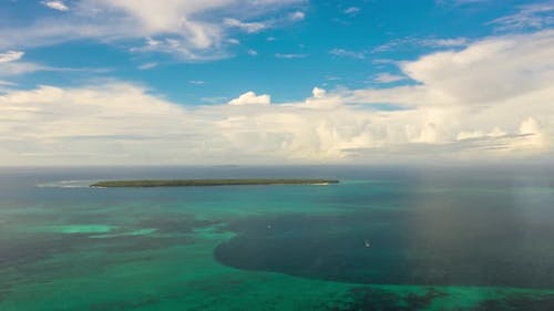 Time Lapse Blue Sea and Clouds in the Philippines