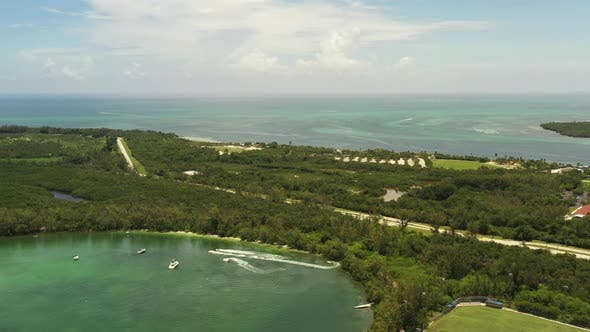 Aerial Video Virginia Key Miami Fl