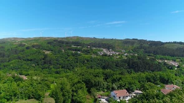 Aerial View on Rural Scene