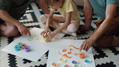 Creative Parents And Child
