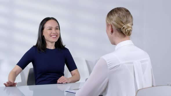 Cover Image for Female Manager Conducting Job Interview