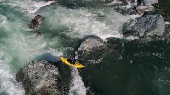Thumbnail for Drone Kayaking Whitewater Rapids