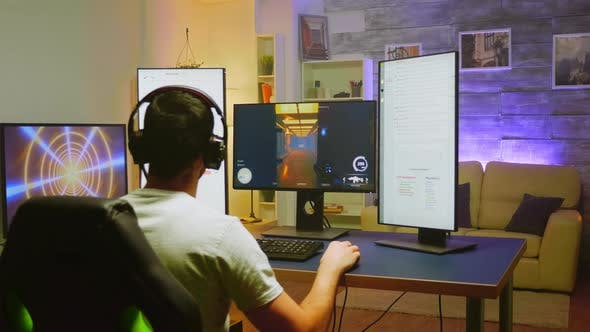 Game Over for Pro Gamer While Playing Shooter Game